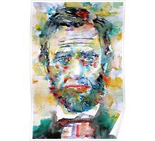 ABRAHAM LINCOLN - watercolor portrait Poster