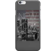 Black and white New York with Usa flag iPhone Case/Skin