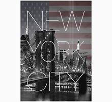 Black and white New York with Usa flag Unisex T-Shirt