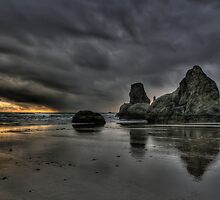 Bandon Beach At Sunset  by thomr