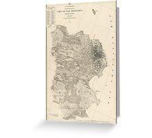 Antique Map of San Francisco, California from 1857 Greeting Card