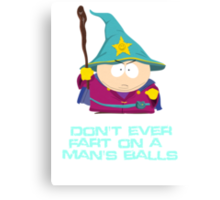 Don't ever fart on a man's balls Canvas Print