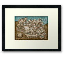 The Elder Scrolls V: Skyrim - Complete Map Framed Print