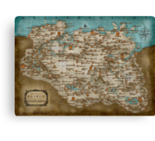 The Elder Scrolls V: Skyrim - Complete Map Canvas Print