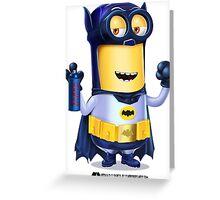 Minion Batman Greeting Card