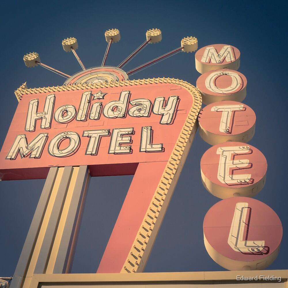 Vintage Motel Sign Square by Edward Fielding