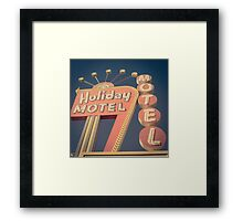 Vintage Motel Sign Square Framed Print