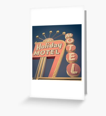 Vintage Motel Sign Square Greeting Card