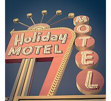 Vintage Motel Sign Square Photographic Print