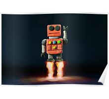 Red Robot Poster