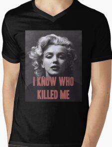Marilyn Monroe - 'I Know Who Killed Me'  Mens V-Neck T-Shirt