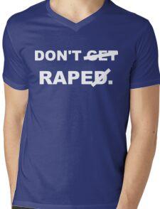 Don't rape (white font) Mens V-Neck T-Shirt