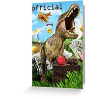 trex collage Greeting Card