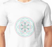 Intersecting 3 flowers Unisex T-Shirt