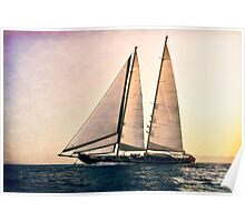 big sailboat sailing Poster