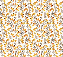 Floral seamless design with seabuckthorn by sky-lantern