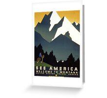 See America, Montana Greeting Card