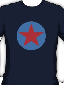blue with red star T-Shirt