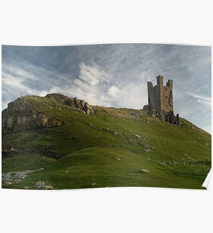 Dunstanburgh castle and hill Poster