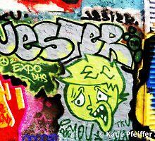 Graffiti Wall Jester by Kater