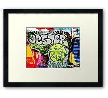 Graffiti Wall Jester Framed Print