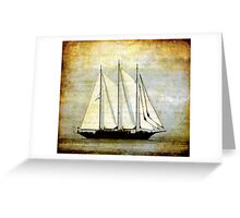 sailboat sailing Greeting Card