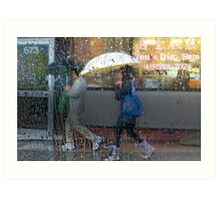 Dim Sum in the Rain Art Print