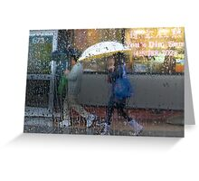 Dim Sum in the Rain Greeting Card