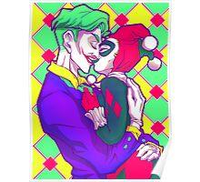 Joker & HarleyQuinn - Retro Poster