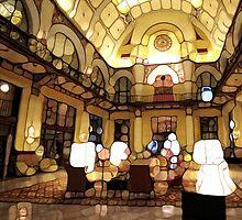 Urban Abstract Hotel Lobby by Dan9900