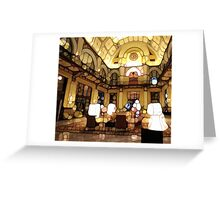 Urban Abstract Hotel Lobby Greeting Card