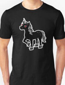 Cute Black and Grey Unicorn Unisex T-Shirt