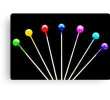 Colorful Pins Canvas Print