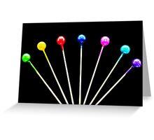 Colorful Pins Greeting Card