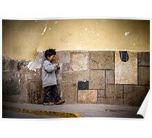 Kid in Ollantaytambo Poster