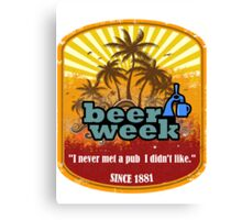 Beer Week Beer Time Canvas Print