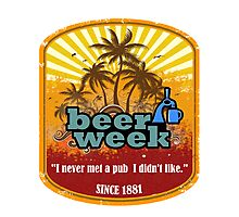 Beer Week Beer Time Photographic Print