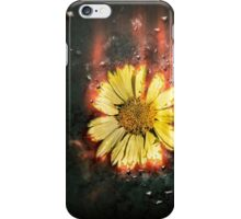 Digitally manipulated image of a white butterfly and yellow flower iPhone Case/Skin