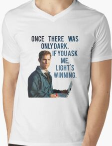 If You Ask Me, Light's Winning - True Detective Mens V-Neck T-Shirt