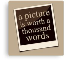 A Thousand Words Canvas Print