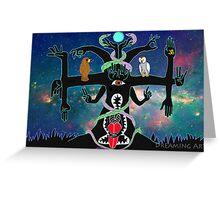 Cosmic Tree / Arbol Cosmico Greeting Card