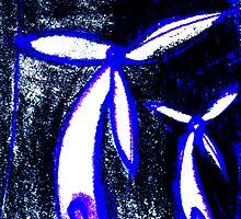 steel flowers - wind turbines by Paul Summers