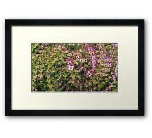 Trippy Flowers Framed Print