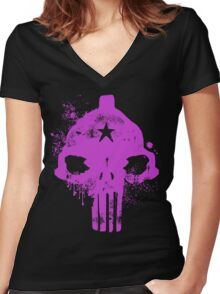 Lumpy Space Punisher Women's Fitted V-Neck T-Shirt
