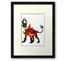 Mega Houndoom used Flamthrower Framed Print