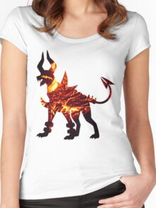 Mega Houndoom used Flamthrower Women's Fitted Scoop T-Shirt