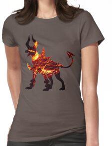 Mega Houndoom used Flamthrower Womens Fitted T-Shirt