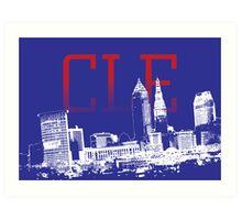 CLE Skyline Art Print