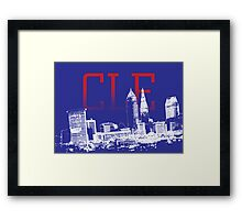 CLE Skyline Framed Print