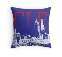 CLE Skyline Throw Pillow